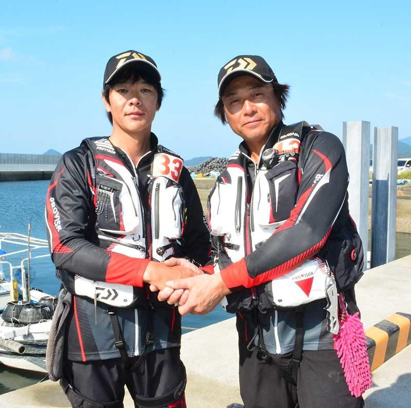 銀狼CUPの山本選手と木村選手