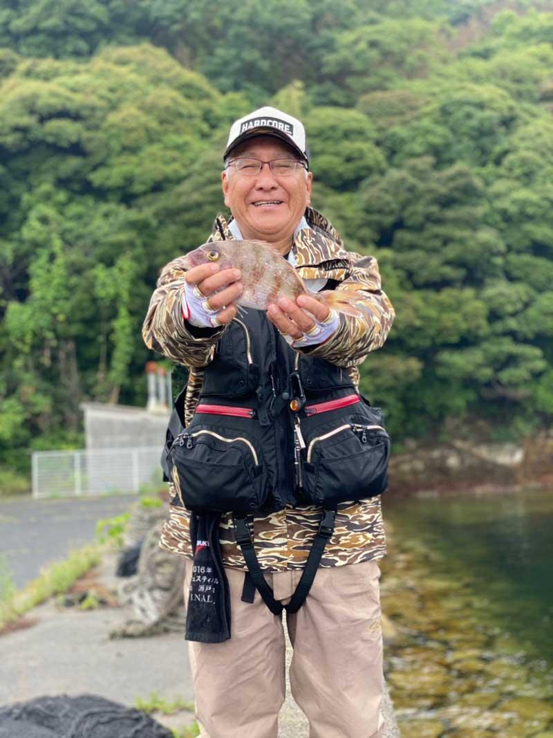 阿多田島 波止 マダイ